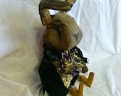 Primitive Bunny Doll, Easter Rabbit Doll
