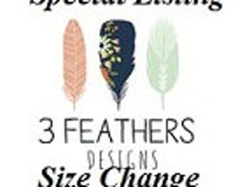 Special Listing for size change