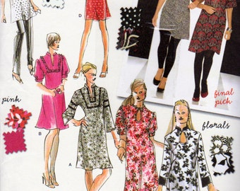 Simplicity 3560, Misses Size 4 to 12 Dress with Tons of Variations, Keyhole Front, Tunic Top, Mini Dress, Sleeve Variations, Bell Sleeve