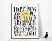 Happiness Can Be Found Even In The Darkest Of Time || Harry Potter, J.K. Rowling, Albus Dumbledore, The Prisoner of Azkaban