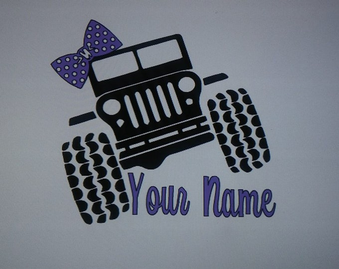 PERSONALIZED Jeep Name Two Color Vinyl Decal