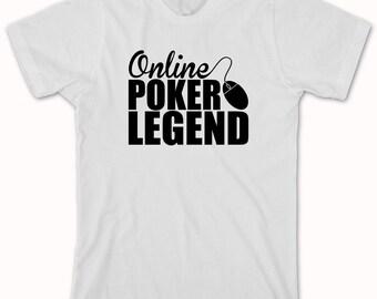 Online Poker Legend Shirt - texas hold em, flop, river, Omaha, pocket aces - ID: 316