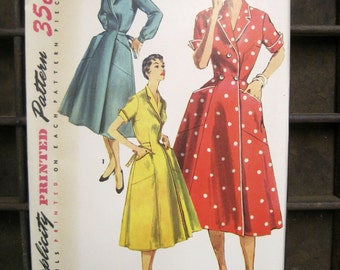 No. 1028 Simplicity Patter, Dress Pattern Size 12, Patterns for Sewing, Retro Dress Patterns, 1940s Patterns, Vintage Ephemera, Retro Design