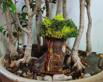 Fairy House, 'Petite' #P20: indoor, outdoor, Fairy Garden, hand built, natural materials