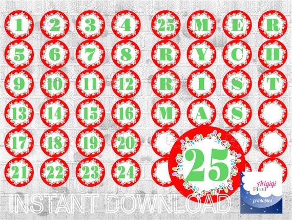 Items Similar To Printable Advent Calendar, Countdown