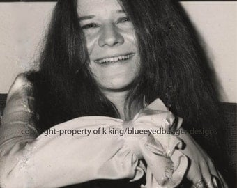 Janis Joplin, black & white photography, reproduction from original photgraph
