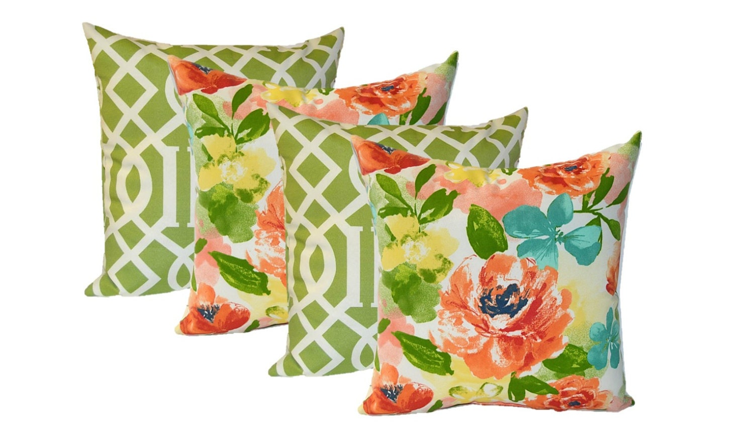 Outdoor Decorative Pillow Sets : Set of 4 20 Indoor / Outdoor Decorative Pillows
