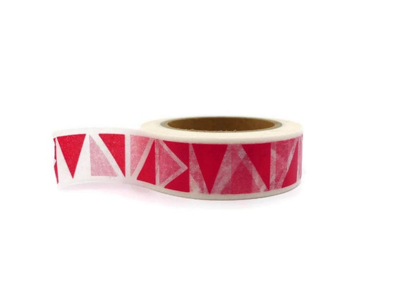 Red washi tape with geometric design sale washi tape for Geometric washi tape designs