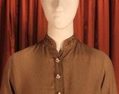 Olive Green Dabka and Pearl Tunic Shirt KAS