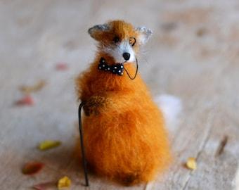 Knitted fox stuffed animal fox knitted handmade fox toys gift fox cute red fox soft sculptures fox miniatures woodland ready to ship