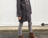 The Cadette Coat PDF pattern and tutorial - sizes 2t - 10 -childrens sewing pattern