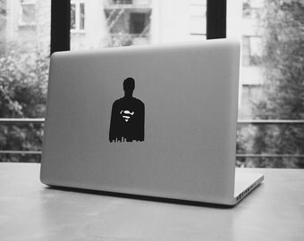 """Superman city shadow silhouette for your macbook pro and air, ipad, laptop, stickers decal for 11,13,15,17"""""""