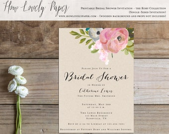 Printable Bridal Shower Invitation - the Rory Collection