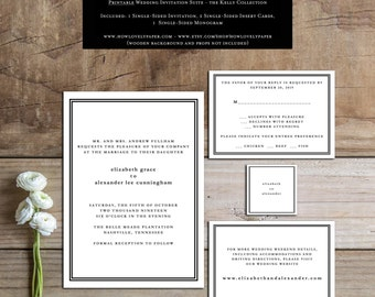 Printable Wedding Invitation Suite - the Kelly Collection