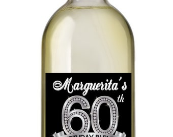 60th Birthday Wine Labels • Personalized Birthday Wine Label