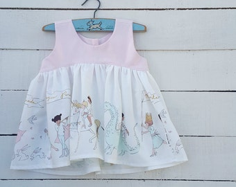 Girls Magic Parade Swing Top  (0-3 months to 5 years) - Made to Order - Handmade