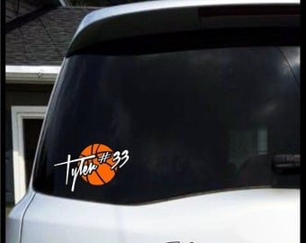 Basketball Decal Etsy - Car window decal stickers sports