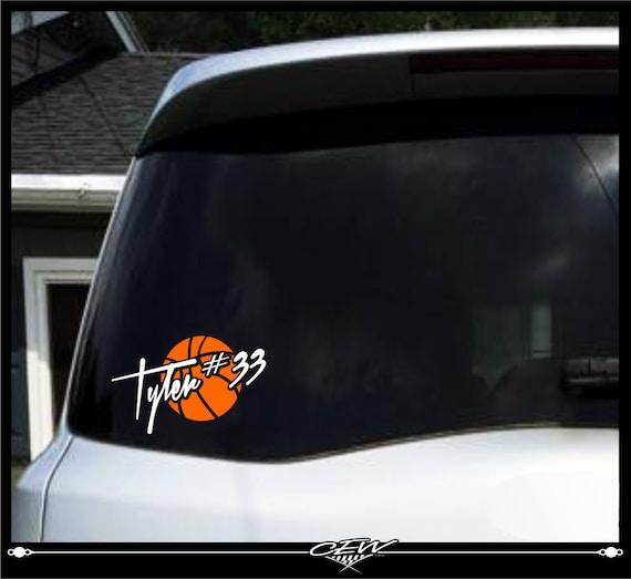 Basketball Decal Sports Decal Car Vinyls Window Vinyl