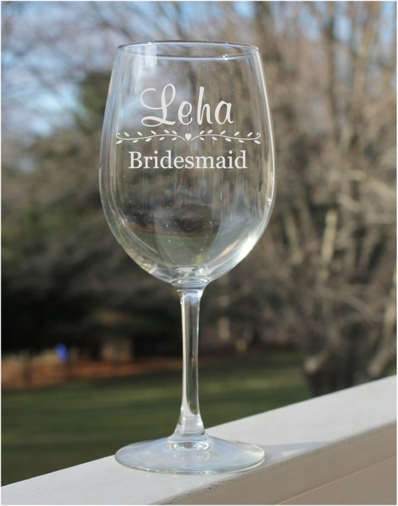 gift, etched wine glasses, wedding wine glasses, Wine glasses ...