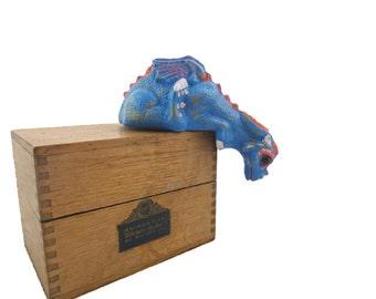 Dragon Figurine - Dragon Sculpture - Graduation Gifts - Fantasy - Dragon Home Decor - Ceramic Dragon - Bright Blue Dragon - Painted Statue