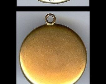Antique VICTORIAN gold fill tiny pearls RHINESTONES engraved flowers LOCKET