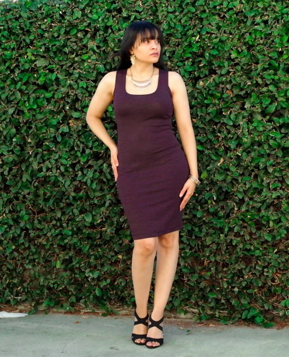 Plus size black tank dress