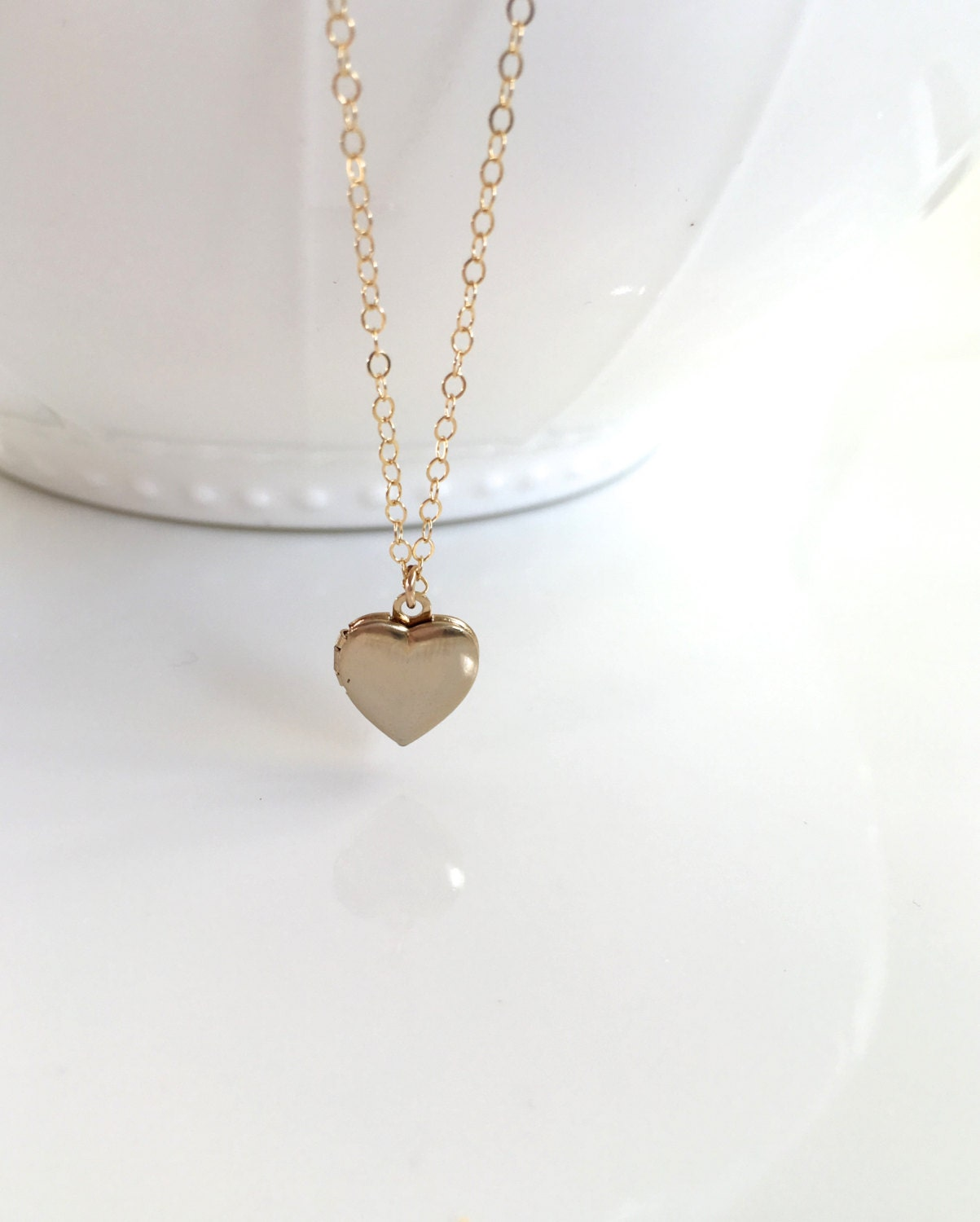 Gold filled heart locket necklace gold filled heart for Gold filled jewelry