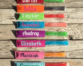 8 Neoprene  Colors, Popsicle Holder, Freeze Pop Sleeve, Ice Pop Holder