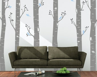 Large Birch Tree Wall Sticker Decals Living Room Vinyl