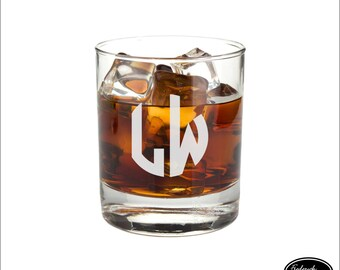 Etched Whiskey Glass, SHIPS FAST, Custom Etched Whiskey Glass, Personalized Etched Whiskey Glass, Monogram Etched Whiskey Glass Any Quantity
