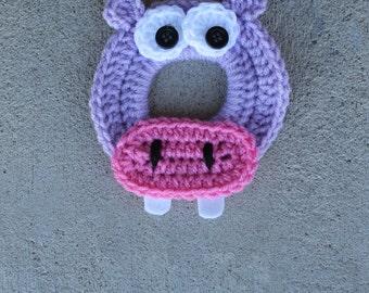 Hippo Crochet Camera Lens Buddy