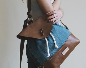BATEAU - Canvas Leather Backpack