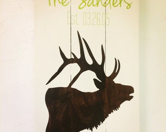 Family Elk Silhouette {Personalize It!}