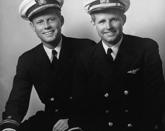 John and Joseph Kennedy in a photo from 1944