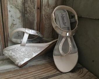 Destination Wedding Sandal Beach Wedding Shoe Bridal Sandal Reception Sandal