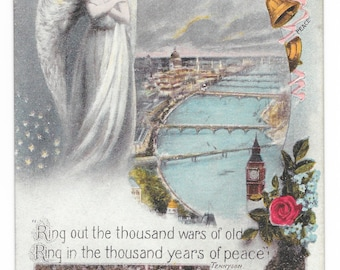 British WWI Peace Postcard, c. 1918