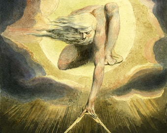 """William Blake : """"The Ancient of Days"""" (1794) - Giclee Fine Art Print"""