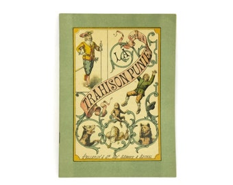French Antique Story Book for Children. French book with Pellerin Epinal print Illustrations. Serie A La Trahison punie.
