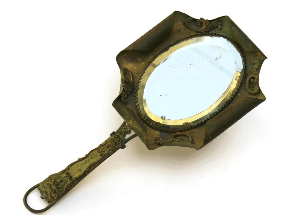 Antique Bronze Hand Mirror French Antique Vanity Mirror