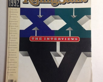 Rolling Stone Magazine The Interviews A Twenty Fifth Anniversary Special 1967 - 1992 Issue 641 October 15, 1992