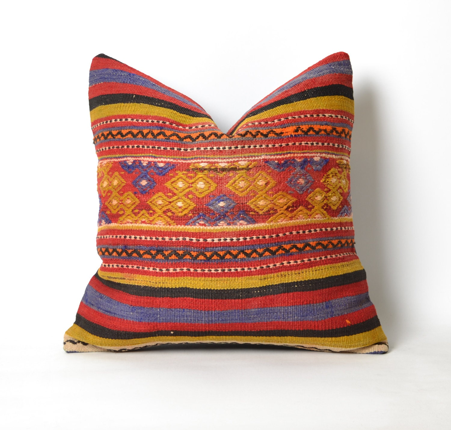 eclectic pillow throw pillow decorative pillow kilim