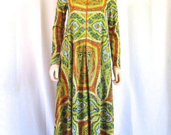 Bill Tice Royal Robes Psychedelic Print Zip-Up Robe Sz. S/P