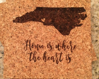 Home is Where the Heart Is // North Carolina Coasters // Set of Four