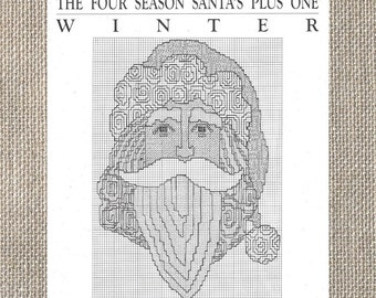 Curtis Boehringer - The Winter Santa Ornament - Counted Cross Stitch Chart Leaflet