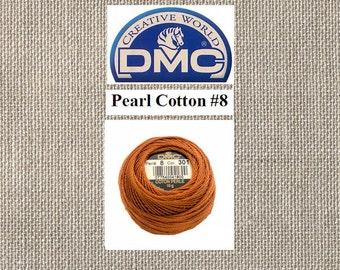 DMC Pearl Cotton 8 - Ball - Color 301 - Medium Mahogany - 87 Yards