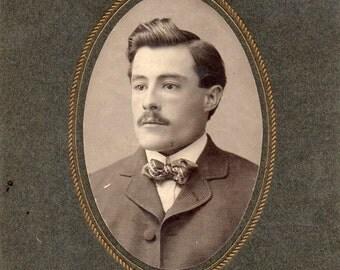 Antique Photo of Handsome Mustachioed Gent