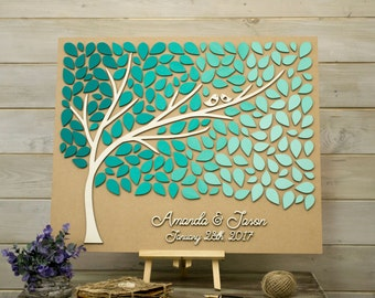 Tree Guest Book Etsy