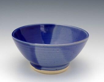 Bowl, Ceramic Bowl, Pottery Bowl,  Ceramic Cereal Bowl, Soup Bowl, Glazed Ceramic Bowl, Lt & Dk Blue, Microwave and Dishwasher Safe