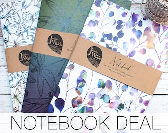 Three A5 Recycled Notebook Multi Deal
