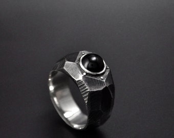 "Sterling Silver Contemporary Ring ""Lapidibus"" 